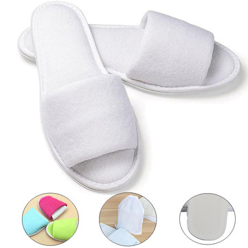 Travel Disposable Slippers Folding Guest Shoes Accessories Business Trip Supplies With Bag