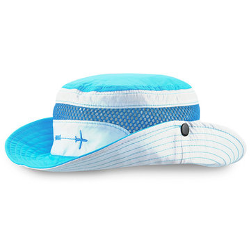 Kids Boys Girls Summer Mesh Breathable Fisherman Hat Outdoor Wide Brim Sunscreen Bucket Hat