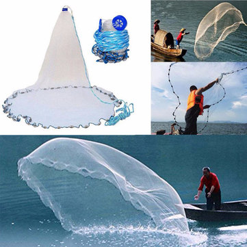 Outdoor Hand Throw Fishing Net Casting Easy Fishing Bait Catch Netting Cast Mesh