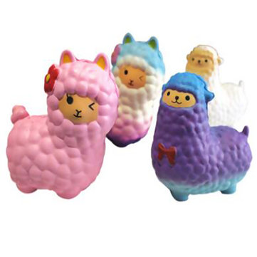 16CM Jumbo Squishy Cute Alpaca Galaxy Super Slow Rising Scented Fun Animal Toys