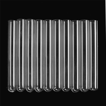 10pcs 38ml Glass Tubing Borosilicate Pyrex Tubes Blowing Test Tube 20mm x 1mm x150 mm