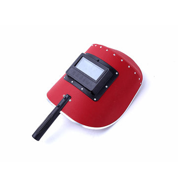 Hand-Held Welding Masks Red Steel Paper Welding Masks Welding Masks Semi Automatic Masks