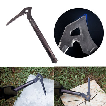 IPRee® T6 Aluminum Alloy Pickax Outdoor Ice Axes Multifunctional Climbing Equipment Hammer Sickle