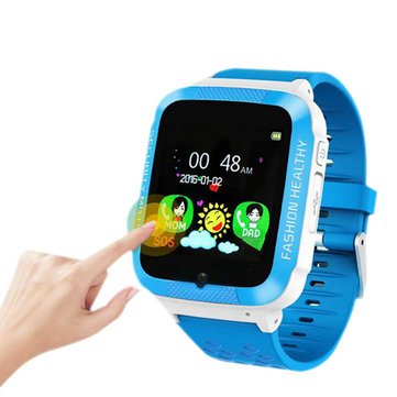 Bakeey 1.54inch Touch Screen LBS Location Remote Monitor Phone Call SOS Camera Kids Smart Watch