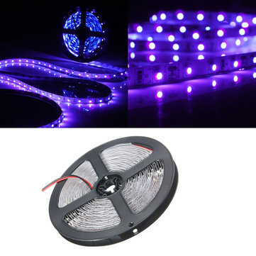 0.5/1/2/3/4/5M 3528 UV Ultraviolet Purple Non-Waterproof Strip Lamp Black Light 12V