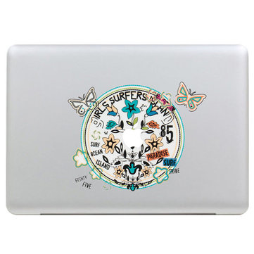 Vlinderkrans Decal Vinyl Sticker Skin Shell Decoratie Laptop Sticker Decal Voor Apple MacBook