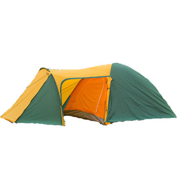 Outdoor 3-4 Persons Camping Tent Double Layer Sunshade Canopy With 1 Hall 1 Room