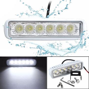 12V 6 LED Spreader Marine Flood Work White Light For Boat Yacht Motorcycle Truck Car