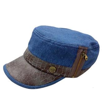Femmes Hommes Lavé denim Flat Top Armée militaire casquettes Visière extérieure Hat Baseball réglable