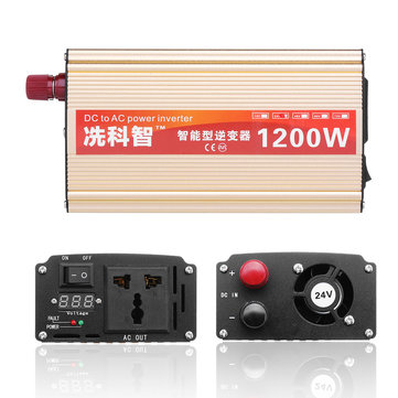 DC 12V/24V/48V To AC 220V 1200W Modified Sine Wave Power Inverter LCD Converter
