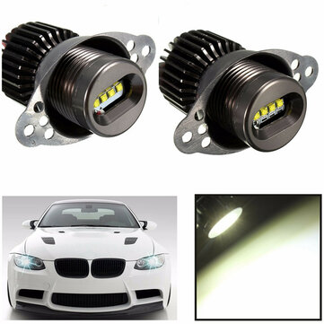20W 1200LM White LED Angel Eyes Lights Halo Ring Bulbs for BMW E90 E91 2009-2011