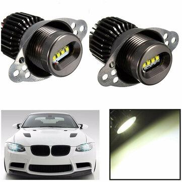 20W 1200LM blanco LED Angel Eyes Lights Halo Ring Bulbs para BMW E90 E91 2009-2011