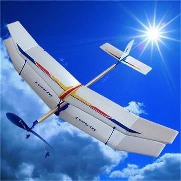 Banda de goma elástica planeador motorizado avión volando el avión de juguete divertido modelo niños