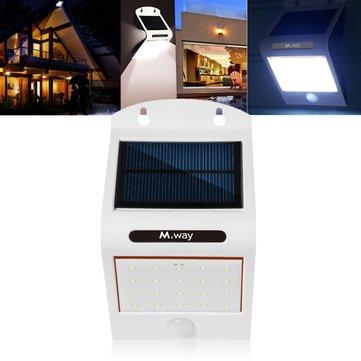ソーラーパワー20 LED防水PIRモーションセンサーウォールライト屋外ガーデンランプ