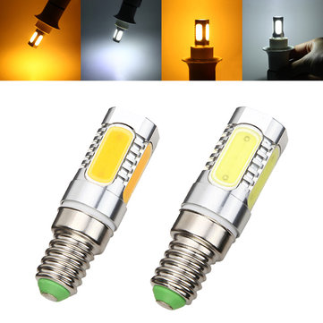 E14 7W LED COB Bulb 350lm Pure White/Warm White Corn Light Lamp AC 85-265V