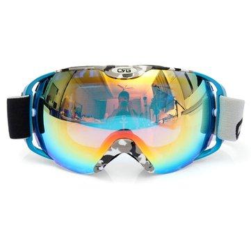 Unisex Anti Sis UV Dual Lens Kış Yarışı Outdooors Snowboard Kayak Gözlüğü Güneş Enerjisi CRG80-8A