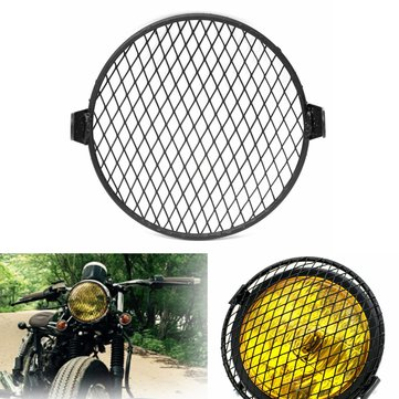 6.4inch 16cm Universal Retro Motorcycle Motor Bike Headlight Mask Cover Grill Round