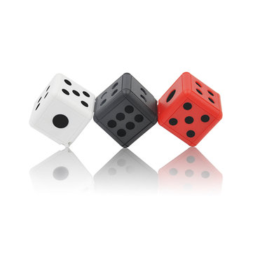 Mini 1080P Invisible Lens Dice Hidden Video Camera IR LEDs Night Vision Support TF Card Record