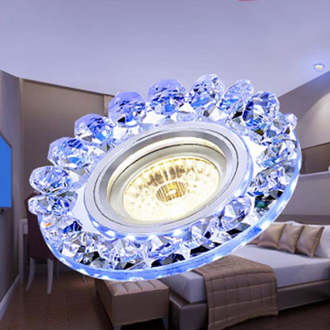 Modern 3W COB LED Down Light Crystal Ceiling Lamp Indoor Living Room Bedroom Decor