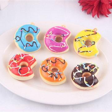10PCS 5CM 무작위 색깔은 도넛을 물다 Squishy 셀룰라 전화는 향수를 바르십시오