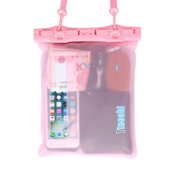 Women Sealed Waterproof Beach Drift Bag 5.5 Inches Phone Bag Clear Bag
