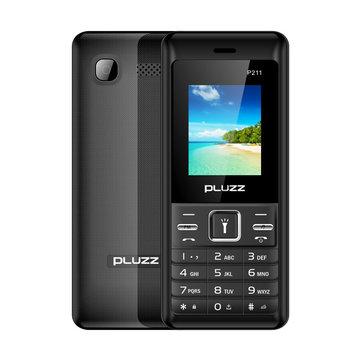 PLUZZ P211 1.77'' 3000mAh FM Radio Flashlight Big Speaker Dual SIM Card Long Standby Feature Phone
