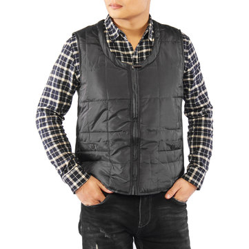 Men Heated Vest Motorcycle Hiking Warm Winter Jacket