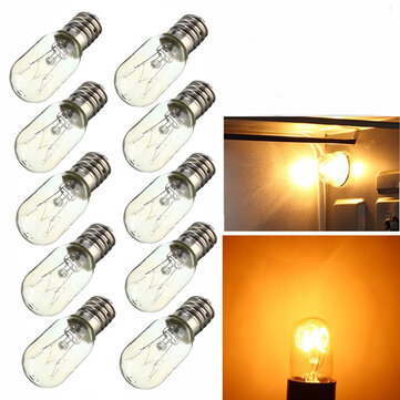 5X E14 15W 25W Light Bulb Glass Heat Resistant Lamp Bulb AC220-240V