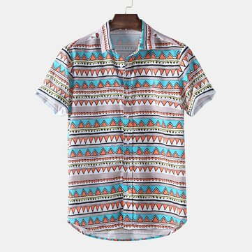 Mens Funny Pattern Printed Ethnic Style Shirts