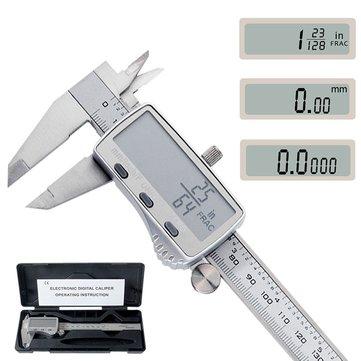 DANIU Digital Caliper 0-150mm Metric/Inch/Fraction Electronic Vernier Calipers Stainless Steel Micrometer Measuring tools