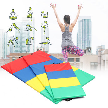 4 Folding Gymnastics Mat Yoga Exercise Gym Airtrack Panel Tumbling Climbing Pilates Pad Air Track