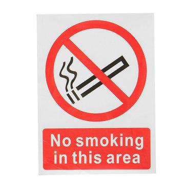 Uyarı İşareti Bu Alanda Sigara İçilmez Sembol Plastik Plaka 20x15cm