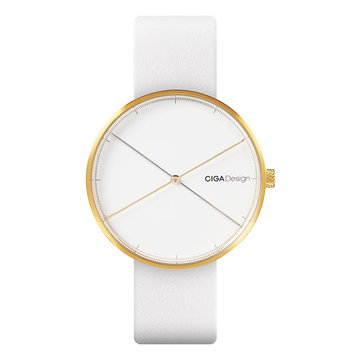 XIAOMI CIGA Design D009-7 Reddot Award Gold Case Quartz Watch Genuine Leather Strap Women Watch