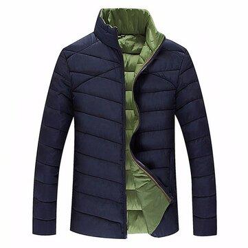 บุรุษPlusไซส์S-6XLเสื้อหนาวคอกลมซิปฤดูหนาวหนาว