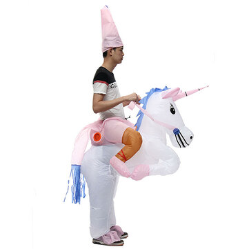Horse Rider Inflatable Costume Carnival Party Fancy Animal Clothing For Adults Free Shipping