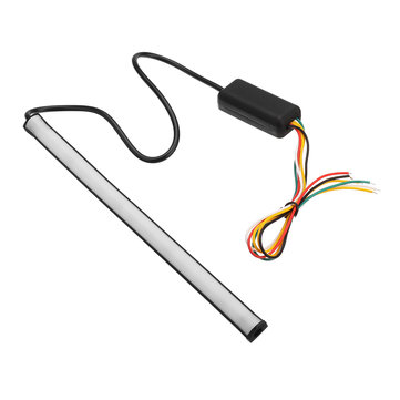 12V 5050RGB Switchback Flowing LED Tail Brake Turn Signal Strip Driving Flash Lights 3W