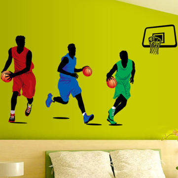 Playing Basketball Sports Wall Decal Removable Home Room Decor Art Wall Sticker Wallpaper
