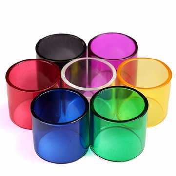 Colored Transparent Pyrex Glass Tube Replacement 7 Colors For 2mL Melo 3 Mini Tank