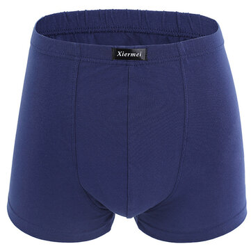Mens Big Size Loose Fatty Boxers Underwear Cotton Briefs