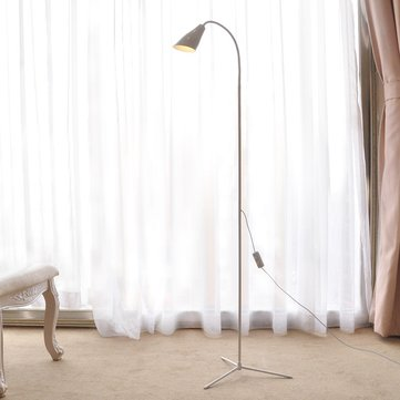 Modern 7W White & Warm White LED Floor Lamp Dimmer USB Desk Reading Light Fixture for Bedroom Decor