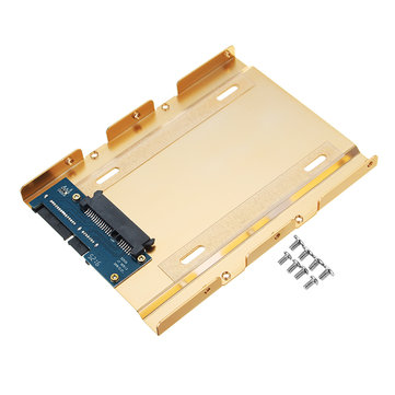 JEYI K109 2.5 to 3.5 Inch Aluminum Hard Drive Converter Bracket Tray SATA 3.0 Interface SSD Adapter