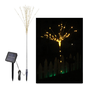 2PCS Solar Powered DIY LED Firework Starburst Landscape Light for Outdoor Garden Ground Lawn Decor
