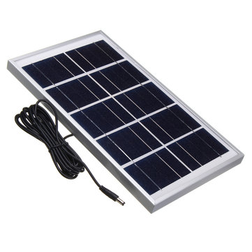 5V 7W Durdable Waterproof Polycrystalline Solar Panel Charger With 3M Cable For Emergency Light Camping