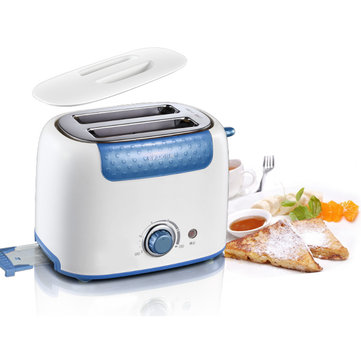 2-Slice Bread Sandwich Toaster Stainless Steel Kitchen Baking Breakfast 220v