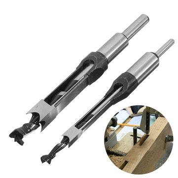 Drillpro 10mm/16mm Square Hole Saw Auger Drill Bit Mortising Chisel Auger Drill Bit WoodWorking Tool