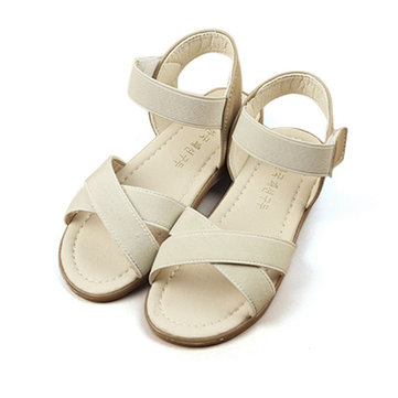 Girls Summer Roman Sandals Princess Dress Shoes Kids Beach Breathable Open Toe Flats Children Causal