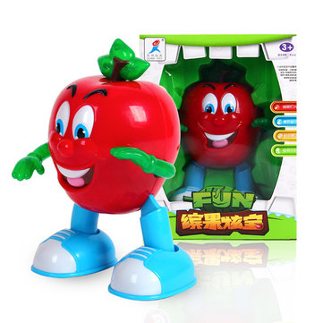 Electric Dancing Lighting Apple Pear Fun Toy Gift