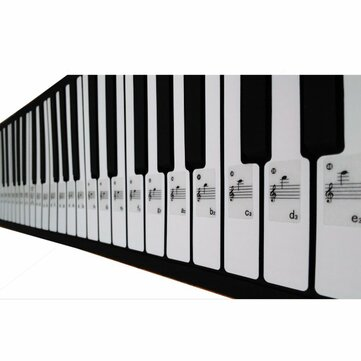Piano Keyboard Musical Note Sticker for 61 Keys Electronic Keyboard Piano
