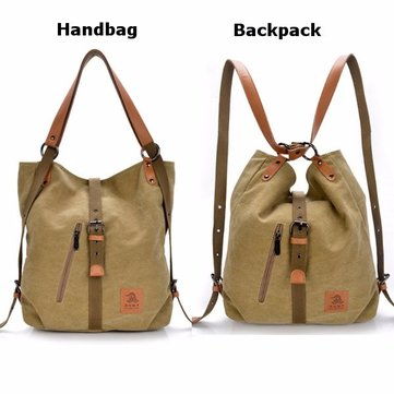 Women Men Canvas Handbags Multifunction Backpack Casual Shoulder Bags Students School Bags