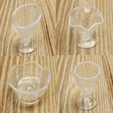 New DIY Mini Cup Ice Cream Saints Cup Creamy Tile Cups Goblets Sticky Mini Plastic Gadgets